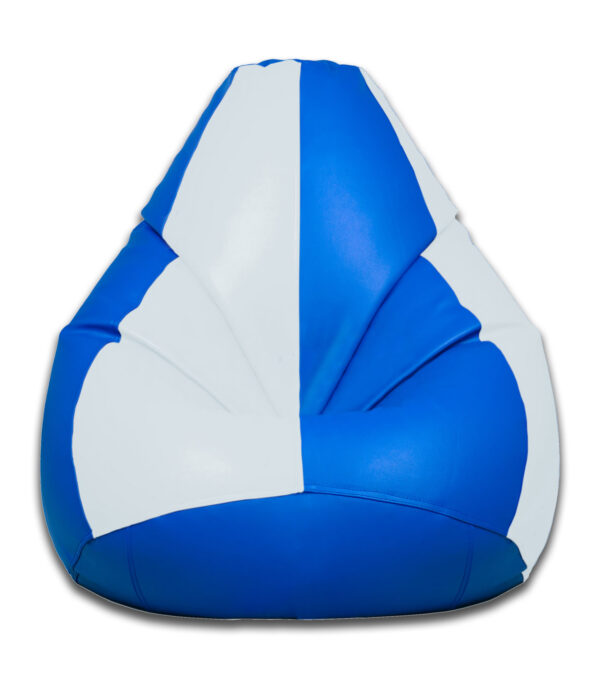 blue and white bean bag home furniture