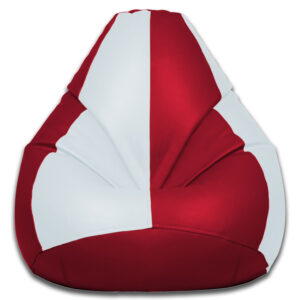 Red and white striped bean bag